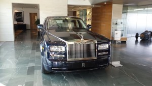 Brand new Rolls Royce Phantom extended version in reception.